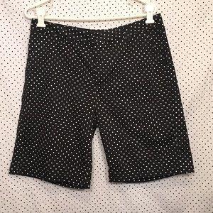 Black White Polka Dot Bermuda Shorts